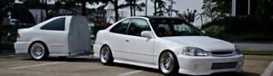 Bmw e30 325es TRAILER AND TRACK 1990 coupe all white 318 m3 RUST