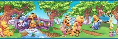 Disney Winnie the Pooh Wallpaper Border Blue Mountain Wallcoverings 83182020  (Disney Blue Winnie The Pooh Wallpaper Border)