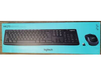 LOGITECH MK270 WIRELESS KEYBOARD AND MOUSE NEW BOXED