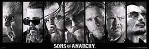 Sons of Anarchy Reaper Crew TV wood wall mount