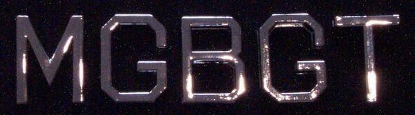new MGB GT Script Emblem / Motif