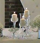 Centerpieces and chair covers  rentals