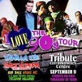 2 tix to I LOVE THE 90's TOUR SEPT 9 in Oshawa