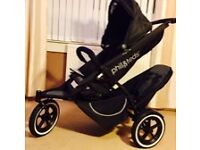 Phil & Teds Double Buggy, pushchair bundle in very good condition. Smoke and pets free home.