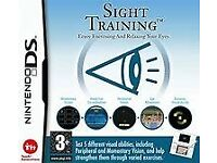 NINTENDO DS SIGHT TRAINING EYE EXERCISING GAME BOXED, AS NEW, WITH INSTRUCTION BOOK FREE POSTAGE UK