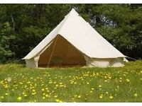 (SALE) 4M 100% CANVAS BELL TENT WITH ZIP IN GROUND SHEET £460 + FREE DELIVERY