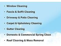 Roof cleaning & Moss Removal, Window cleaning, Gutter Clearing, Pressure Washing