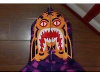 Bape hoodie purple camo ugly face
