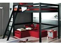 Mezzanine bed frame