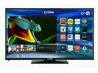 """LUXOR 43"""" LED smart wifi built in USB MEDIA PLAYER HD FREEVIEW and freesat Screen mirror full hd"""