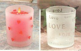For sale: Brand new STUDIO FROSTED GLASS VOTIVE Candle Holder