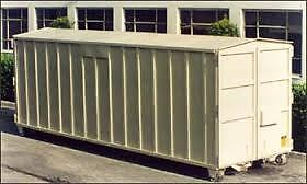 Roll off storage container or site office