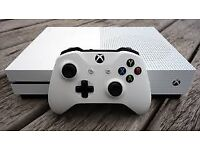 Xbox one s with controller and box