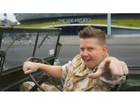 3x Gary Tank Commander tickets for sale for this Saturday 22nd October