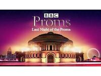 BBC proms final night 2 tickets together £700.00