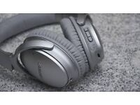 Bose Qc 35 wireless noise cancelling headphones 3 weeks old