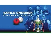 World Championship Snooker Final Tickets