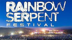2 Rainbow Serpent Tickets for sale