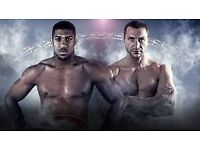 Anthony Joshua Vs Wladimir Klitschko tickets x 6. Block 211 row 8