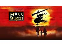 4 x Miss Saigon tickets for Saturday 27 January 7.30pm Upper Circle G34-G37