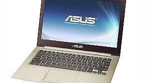 Asus Ultrabook UX31A , Core  i5 3317U 1.7 GHz , Ram - 4 GB , Storage - 128 Gb SSD  comes with a warranty.