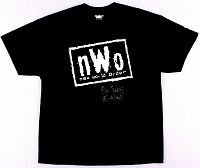 """Kevin Nash Signed New World Order T-Shirt Inscribed """"Big Sexy"""""""