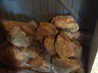 Rockery Stones - A dozen large rockery stones -