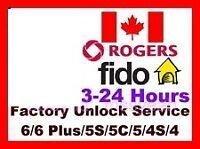 déblocage officiel ((Factory unlock )) Rogers fido chatr
