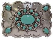 Mens Turquoise Belt Buckle