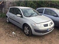 Renault Megane 2004 silver breaking for spares