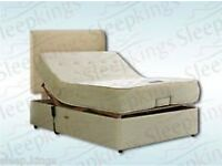 4.6' Double adjustable bed with headboard and Coolex memory foam mattress