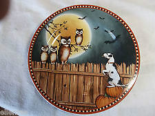 Owl Pumpkin Hollow Plate