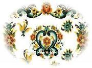 Vintage Flower Decals