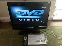 22' Lcd hd TV with free view built in and dvd player