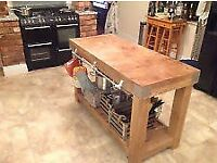 Wanted Butchers Block/ Kitchen Island, Old Wood Work Bench
