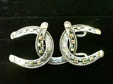 Vogt Sterling Silver & 14k/GF Horseshoe Belt Buckle NEW