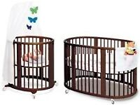 Stokke Sleepi 4in1 cot/bed - Walnut brown - Perfect condition