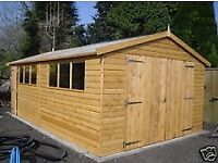 SHED/WOODEN TIMBER GARAGE