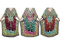 Ladies Kaftan Maxi Caftan Dresses Wholesale 3pc Kimono Caftan Assorted Maxi Caftan Dress One Size