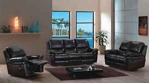 BOXING SALE  -Recliner Sofa, 3 Piece Leather Sofa Set ST