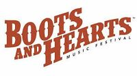 2-Boots and Hearts General Admission Weekend Passes+ Camping