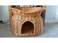 Cat Basket with Union Jack top cushion large storage underneath