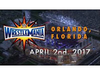 WWE Wrestlemania 33 ticket Section 205 £165