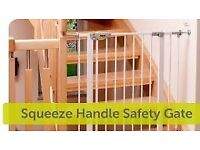 Baby Stairs Safety Gate - Hauck Safety Squeeze Handle