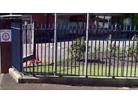 Wrought cast iron fence panels 1950,s