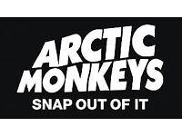 Arctic monkeys Men arena Lower tier 6th September