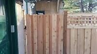 wood fence repair and install