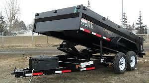 7' X 12' DUMP TRAILER FOR RENT OR HIRE