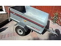 Erde 120 Galvanised Drop-Tailed Trailer with Spare Wheel and Lighting Bar