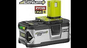 Ryobi Lithium+18v 4ah battery
